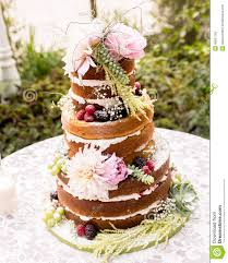 Naked Wedding Cake Stock Photo Image Of California Levels