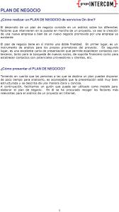 Cómo Realizar Un PLAN DE NEGOCIO De Servicios Online PDF