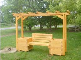 Pallet Arbor Bench With Planter Boxes