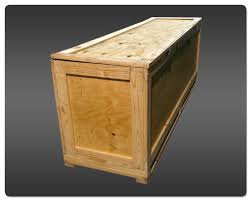 Large Wood Shipping Crate