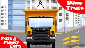 Cars For Children - Dump Truck & Crane At Work | Construction ...