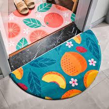 halb runde regenbogen fußmatte obst druck boden matte halbkreis hause teppich für schlafzimmer badezimmer antislip flur fußmatte bereich teppich