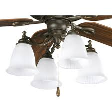 Hunter Outdoor Ceiling Fans Amazon by Progress Lighting P2625 77 4 Light Fan Light Kit Forged Bronze