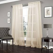 Gold And White Sheer Curtains by Buy Gold Sheer Curtains From Bed Bath U0026 Beyond
