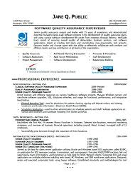 Software Quality Assurance Resume Template Samples Free Objective Examples Entry Level