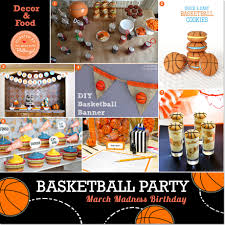 40th Birthday Decorations For Him by March Madness Ideas For A Basketball Themed Boy U0027s Birthday Party