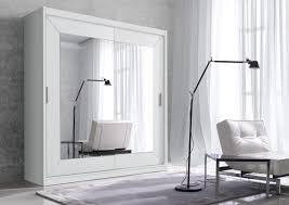 schiebetürenschrank kleiderschrank schrank mit spiegel 180cm weiß