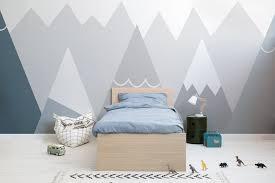 fototapete blaue und graue berge für