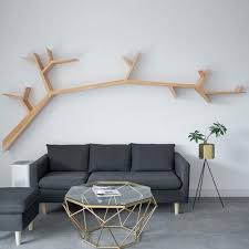 ldg baum wandregal massivholz schweberegale wohnzimmer