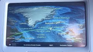 air transat lyon montreal inflight moving map aboard air transat a330