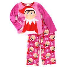 amazon com elf on the shelf girls christmas fleece pajamas clothing