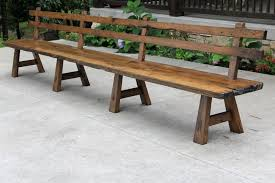 Bench Custom Made Live Edge Barnwood With Back Rest Long By Inside Wood Plan Outdoor