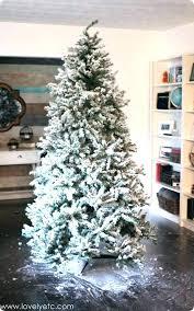 Flocked Tree Sale Lit Vickerman Christmas Trees On Clearance Slim Real For Near Me