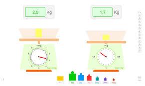 balance de cuisine à aiguille balance didactique pour apprendre à peser