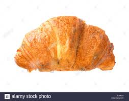 Moldy Croissant On A White Background