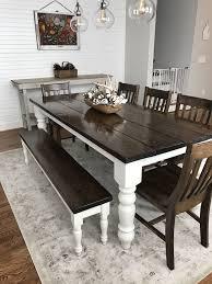 Custom Built Solid Wood Modern Farmhouse Dining Furniture
