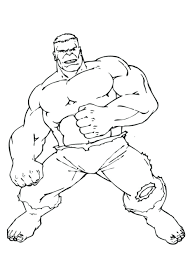 Red Hulk Printable Coloring Pages Free Super Hero Hogan Large Size