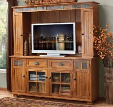 Rustic Oak Entertainment Center Wall Unit And Media With Remodel 14