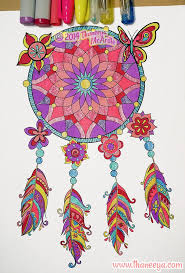 Dreamcatcher From Thaneeya McArdles Hipster Coloring Book Amzn 1574219642