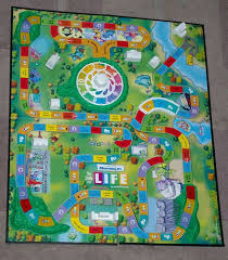 LIFE In Monstropolis The Monsters Inc Version Of Game Board With All Mountains Buldings And Spinner Attached