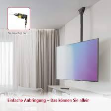 hama tv deckenhalterung schwenkbar neigbar decken halterung höhenverstellbar fernsehhalterung 32 65 zoll inkl kabelmanager für zugentlastung