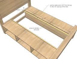 bed frame diy wood bed frame with storage ana white build diy