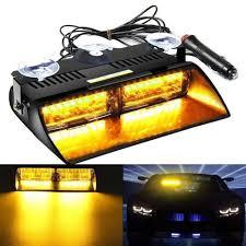 100 Emergency Strobe Lights For Trucks Amazoncom Catinbow Amber Light Bar 16 LED Warning