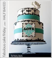 Teal & Black Wedding Cake by The Pastry Studio