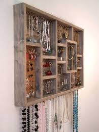 9800 Organize Your Jewelry Using This Display Case Earring Holder Is Stained Grey In