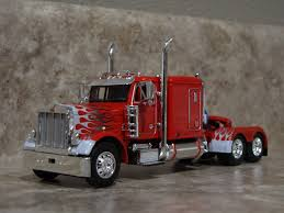 DCP 1 64 Red White Flames Peterbilt Semi Truck Farm Toy | EBay | 1 ...