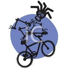 Rasta Skeleton Riding A BMX Bike