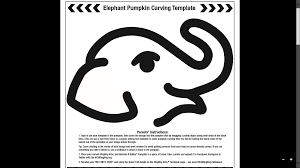 Minecraft Pumpkin Carving Patterns by Elephant Pumpkin Carving Pattern Business Card Size Net