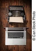 photo de stock ordinateur portable moderne écran machine écrire
