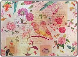 de alaza vogel mit blumen vintage rosa bereich