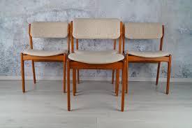 4er set dänische teak esszimmer stühle 60er 70er o d møbler