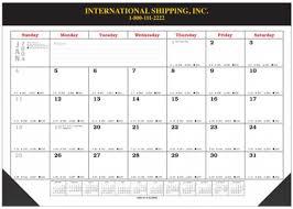 2018 desk pad blotter calendars 17x22 with vinyl top and corners