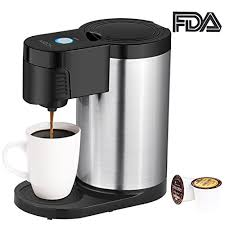 Aicok Single Serve Coffee Maker Cup For Most Pods Including K One With Stainless Steel Body