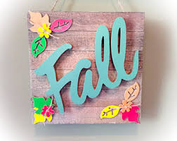 Fall Decor Signs Wood Home Decorations Leaves