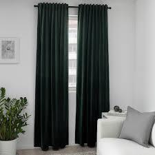 sanela 2 gardinenschals abdunk dunkelgrün 140x300 cm