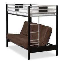 samba youth twin full futon bunk bed with chocolate futon mattress