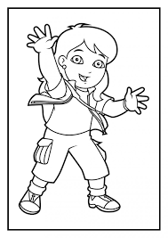 Diego Coloring Pages Dora Line Drawings