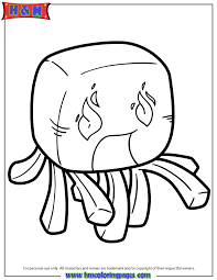 Ghast Character Coloring Page