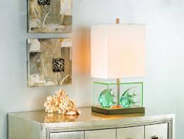 Fillable Lamp Base Ideas by Fillable Glass Block Table Lamp Lamps Plus