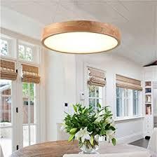 led modern pendelleuchte holz rund hängele pendelle dimmbar deckenle höhenverstellbar licht wohnzimme schlafzimmer