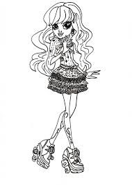 Coloring Pages Of Monster High Dolls Modern Page