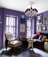 purple wall paint color for contemporary living room and unique