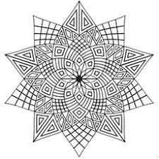Intricate Flower Pattern Mandala Coloring Page