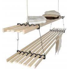 etendoir en bois étagère suspendue au plafond