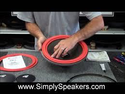 speaker repair and replacement of foam surrounds on cerwin vega