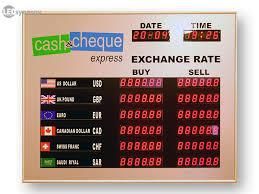 le bureau led exchange rate board led rate display signs exchange rate